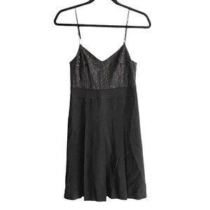MARC BY MARC JACOBS Black Sleeveless Wool Mini Dress Pleated Lace 0